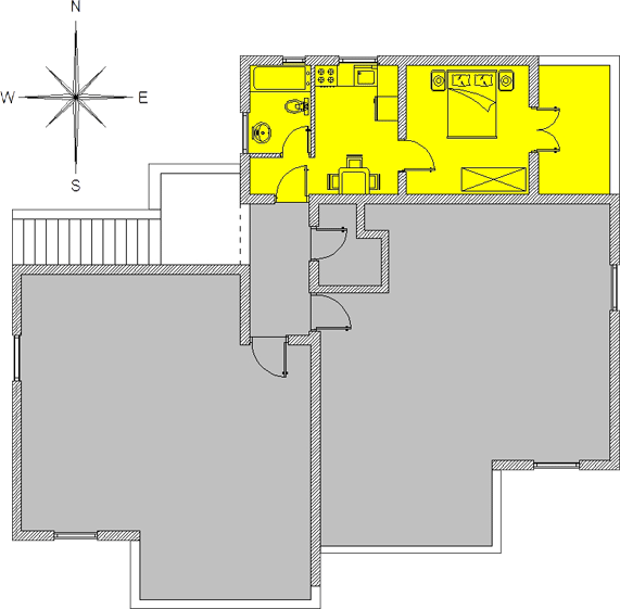 Yellow apartment